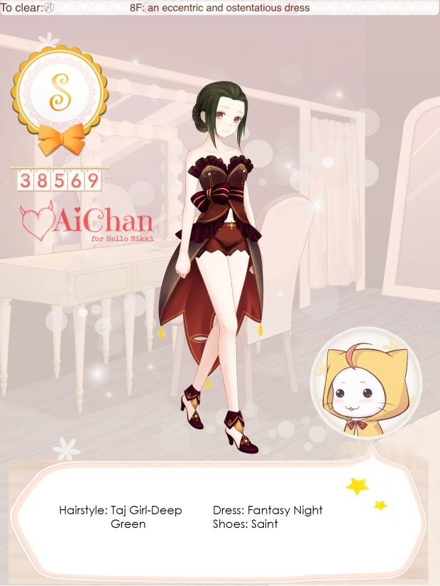 an eccentric and ostentatious dress